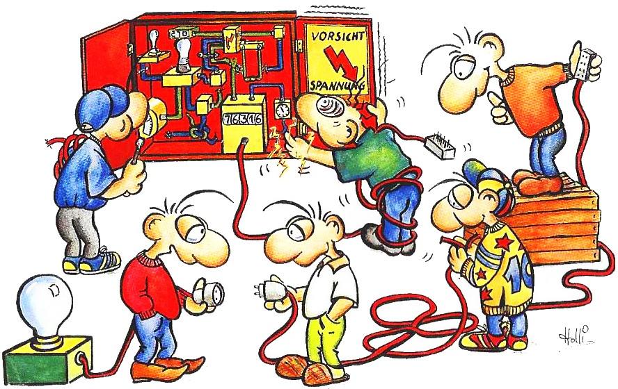 Rufen Sie lieber einen Elektriker an!